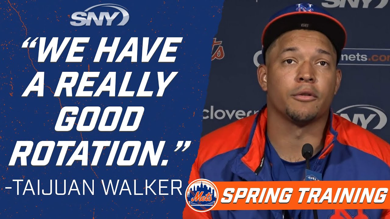 Taijuan Walker is 'excited to go to battle' with the Mets 2021 rotation | New York Mets | SNY