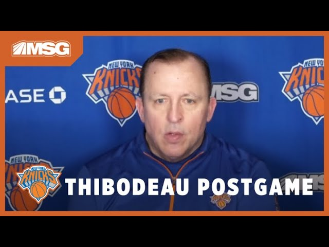 Thibs Happy With Knicks' Will to Win After Tight Game vs Timberwolves | New York Knicks