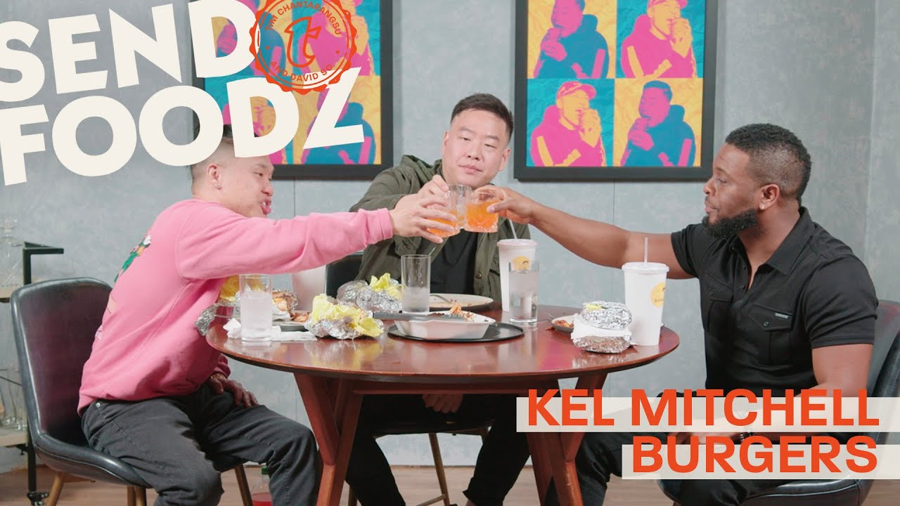 Tim and David Eat Burgers with Kel Mitchell from Good Burger | Send Foodz