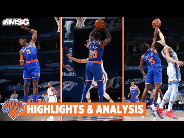 Barrett, Randle, & Quickley Have HUGE Games in 22-Point Route of OKC | New York Knicks