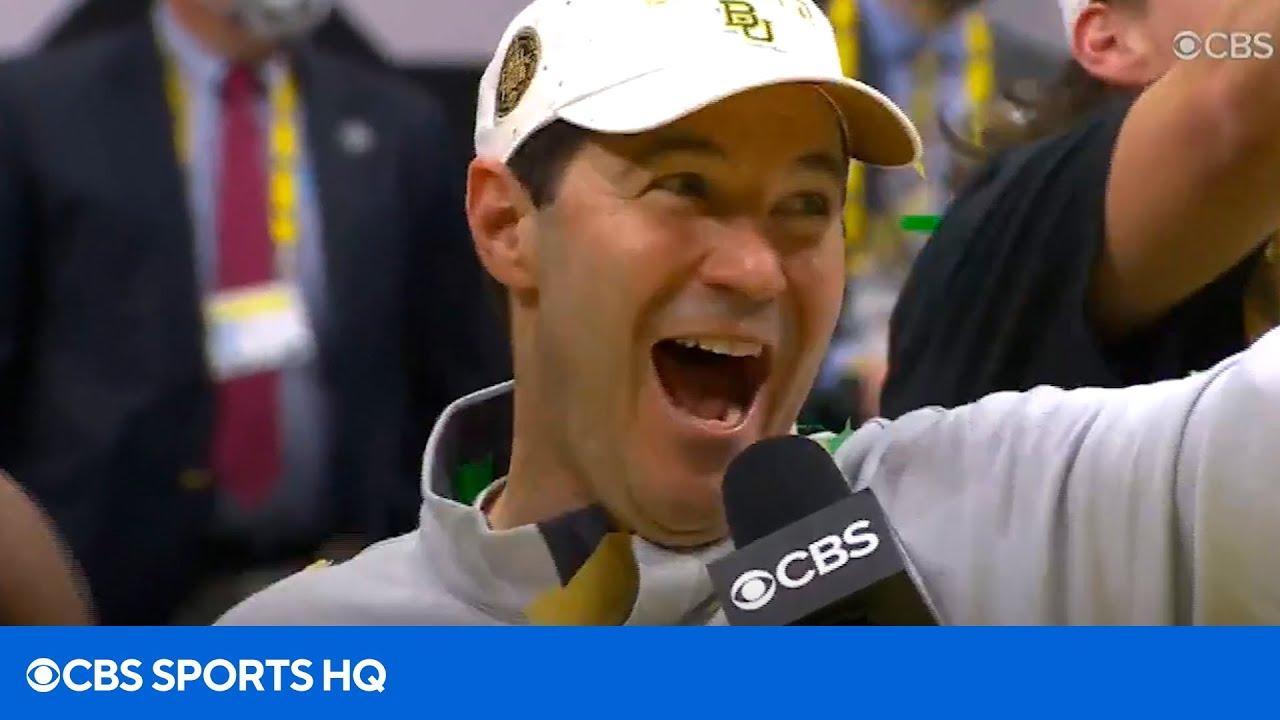 Baylor's Scott Drew Championship Podium Interview | CBS Sports HQ