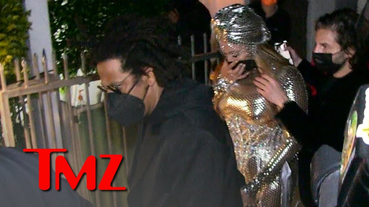 Beyonce & Jay Z Swarmed at Grammys After Party After Her Historic Night   TMZ