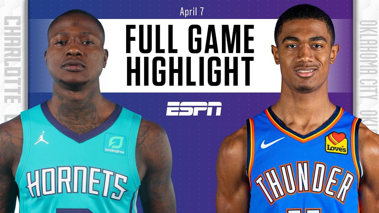 Charlotte Hornets at Oklahoma City Thunder   Full Game Highlights