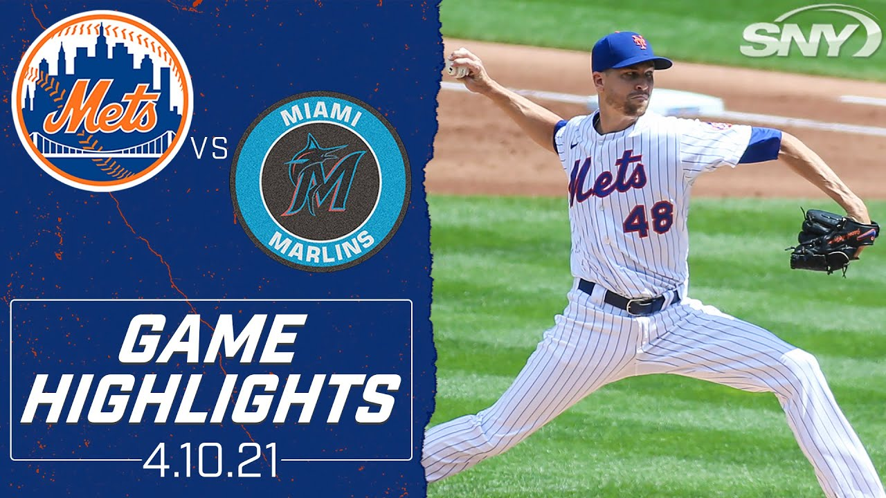 Check out all 14 of Jacob deGrom's Saturday strikeouts against the Marlins | SNY