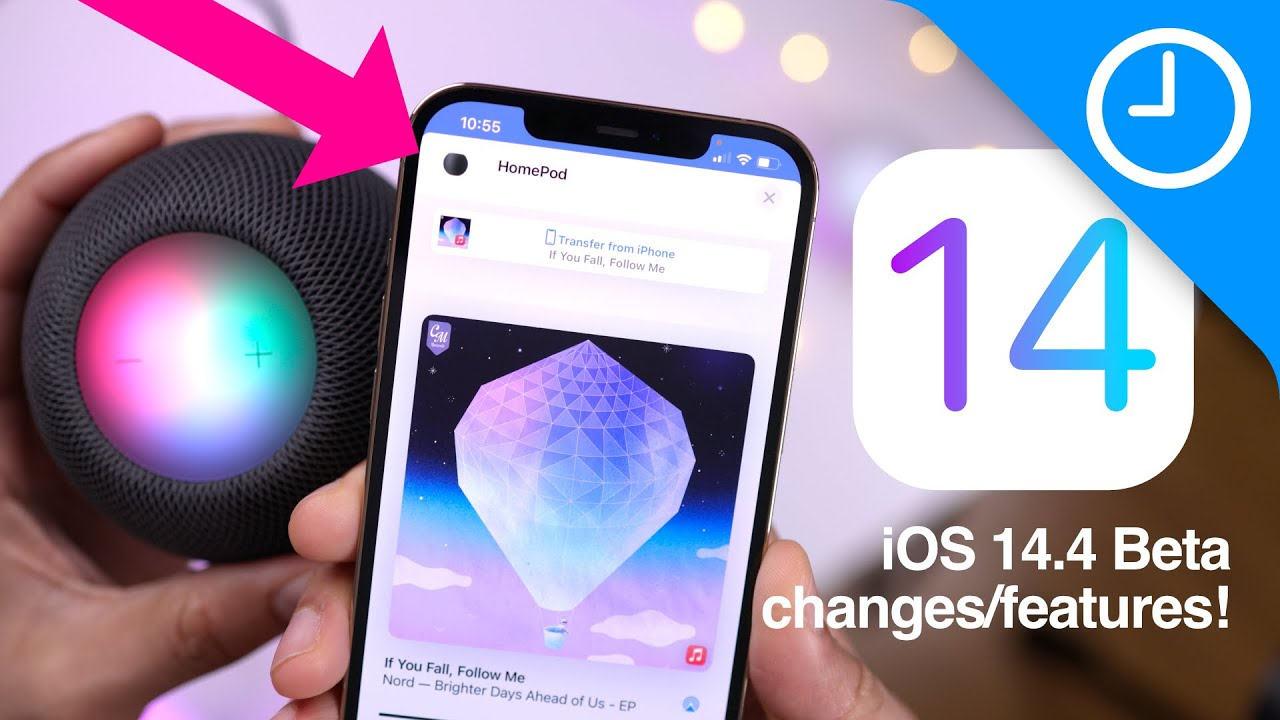 iOS 14.4 Beta Changes/Features: New HomePod mini Handoff experience!