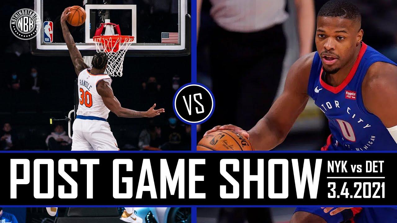 Knicks head into All Star break over .500!   NYK vs DET Post Game Show   3.4.21