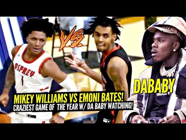 Mikey Williams vs Emoni Bates!!! The CRAZIEST GAME Of The Year w/ DABABY Watching!!