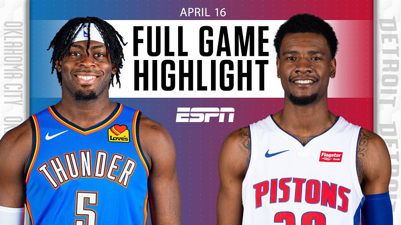 Oklahoma City Thunder at Detroit Pistons | Full Game Highlights