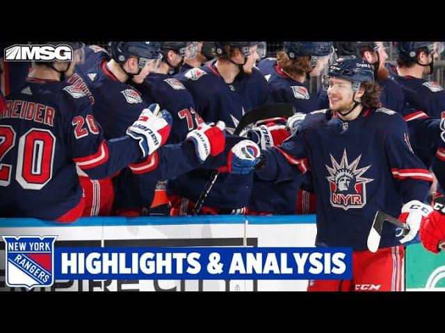 Panarin Scores Two As Rangers Beat Devils 4-0 | New York Rangers
