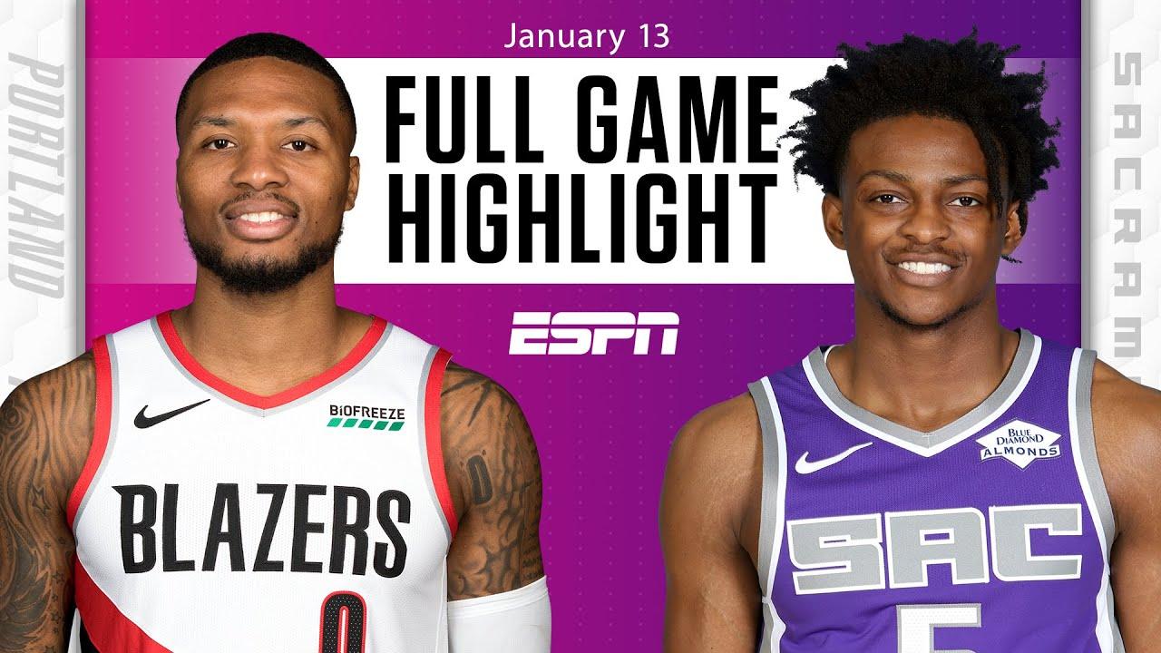 Portland Trail Blazers vs. Sacramento Kings [FULL GAME HIGHLIGHTS]   NBA on ESPN