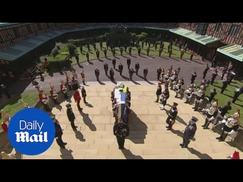 Prince Philip takes his final journey to St. George's Chapel