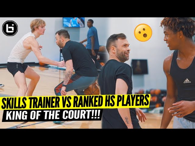 Skills Trainer VS Ranked High School Players! King of The Court w/ Tyler Relph