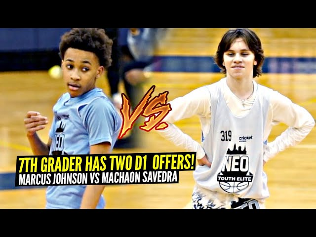 This 7th Grader Has TWO D1 OFFERS Already! Marcus Johnson Has Ties To LeBron & A BRIGHT Future!