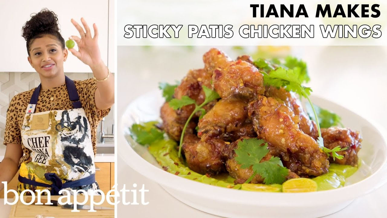 Tiana Makes Sticky Patis Chicken Wings | From the Home Kitchen | Bon Appétit