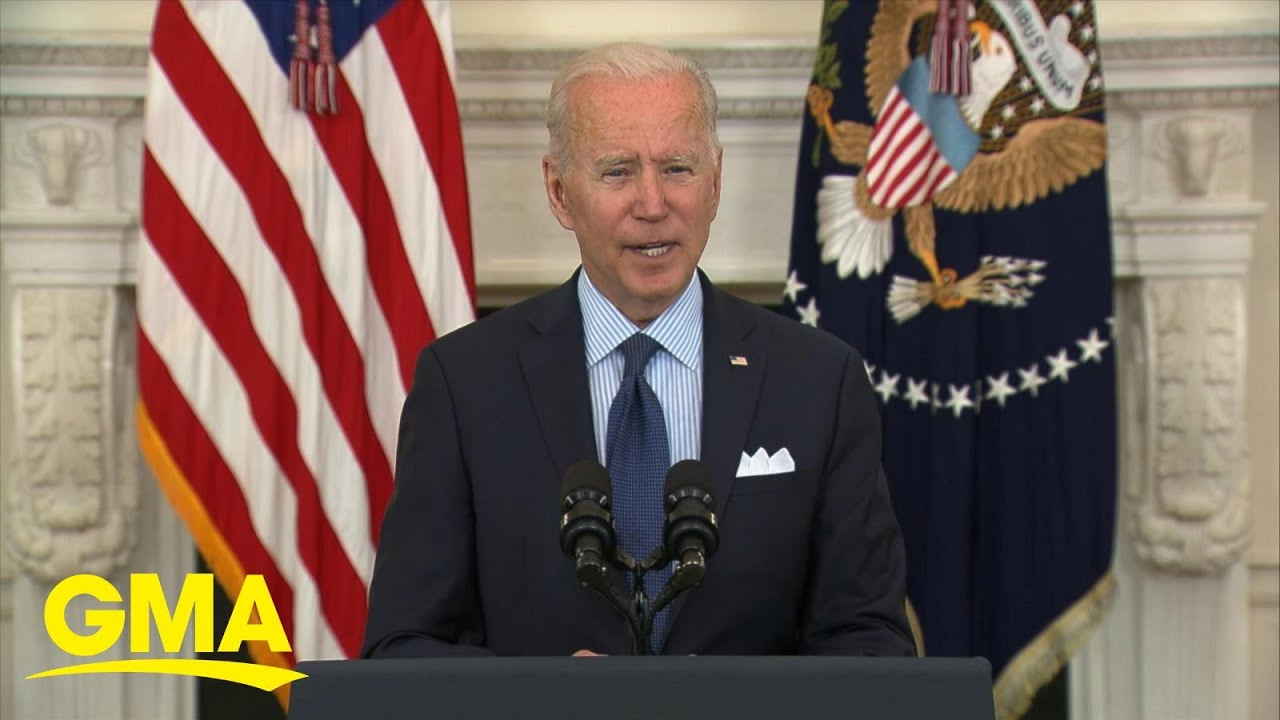 Biden sets new COVID vaccination goal for Americans l GMA