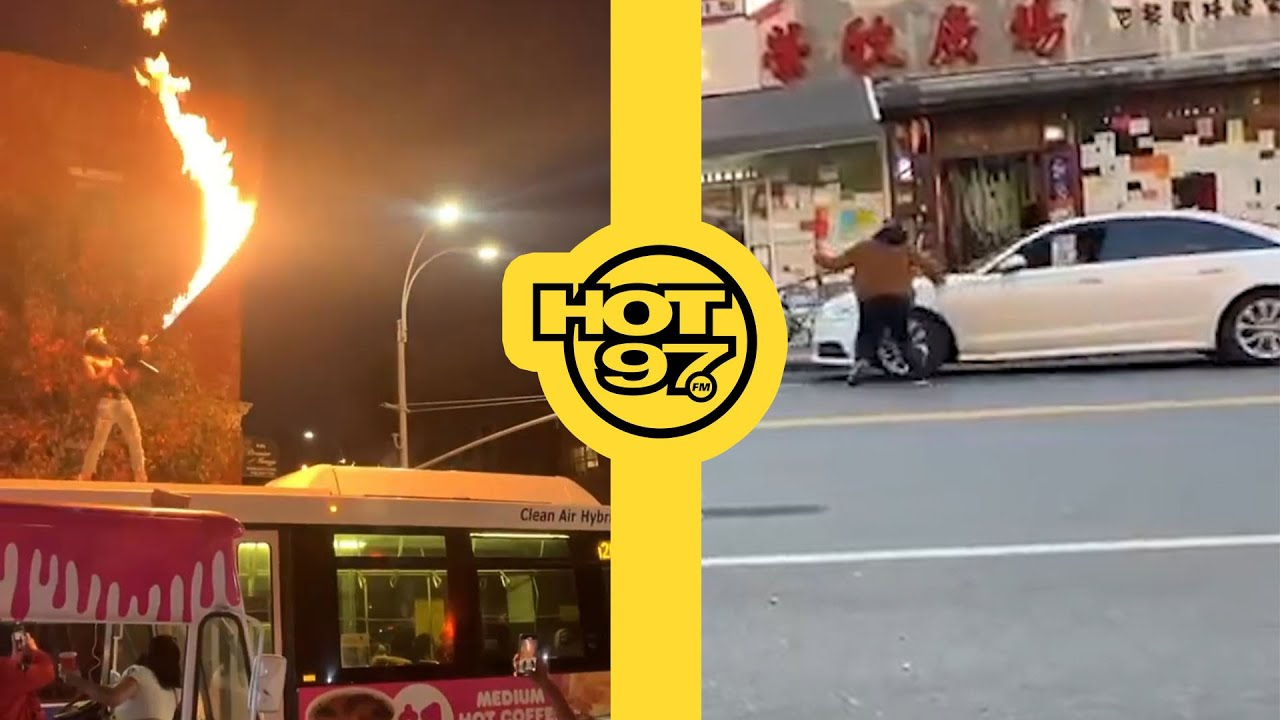 CYPY: CRAZY Road Rage Incident In NYC Caught On Tape + Man Uses Flamethrower On Top Of Bus