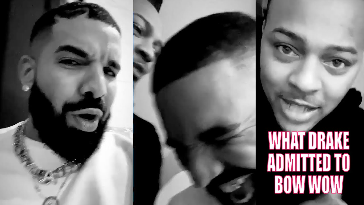 DRAKE GIVES BOW WOW HIS FLOWERS