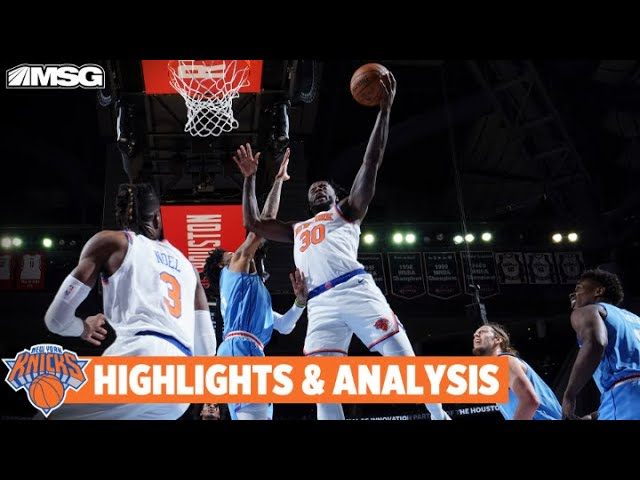 Julius Randle Scores 31 Points In Necessary Win Over Houston Rockets | New York Knicks