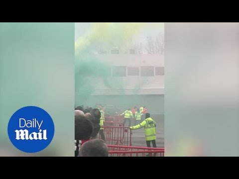 Manchester United protest: Fans break Old Trafford barrier before invading pitch