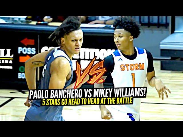Mikey Williams vs Paolo Banchero!! 5 Stars Go HEAD TO HEAD at The Battle!!