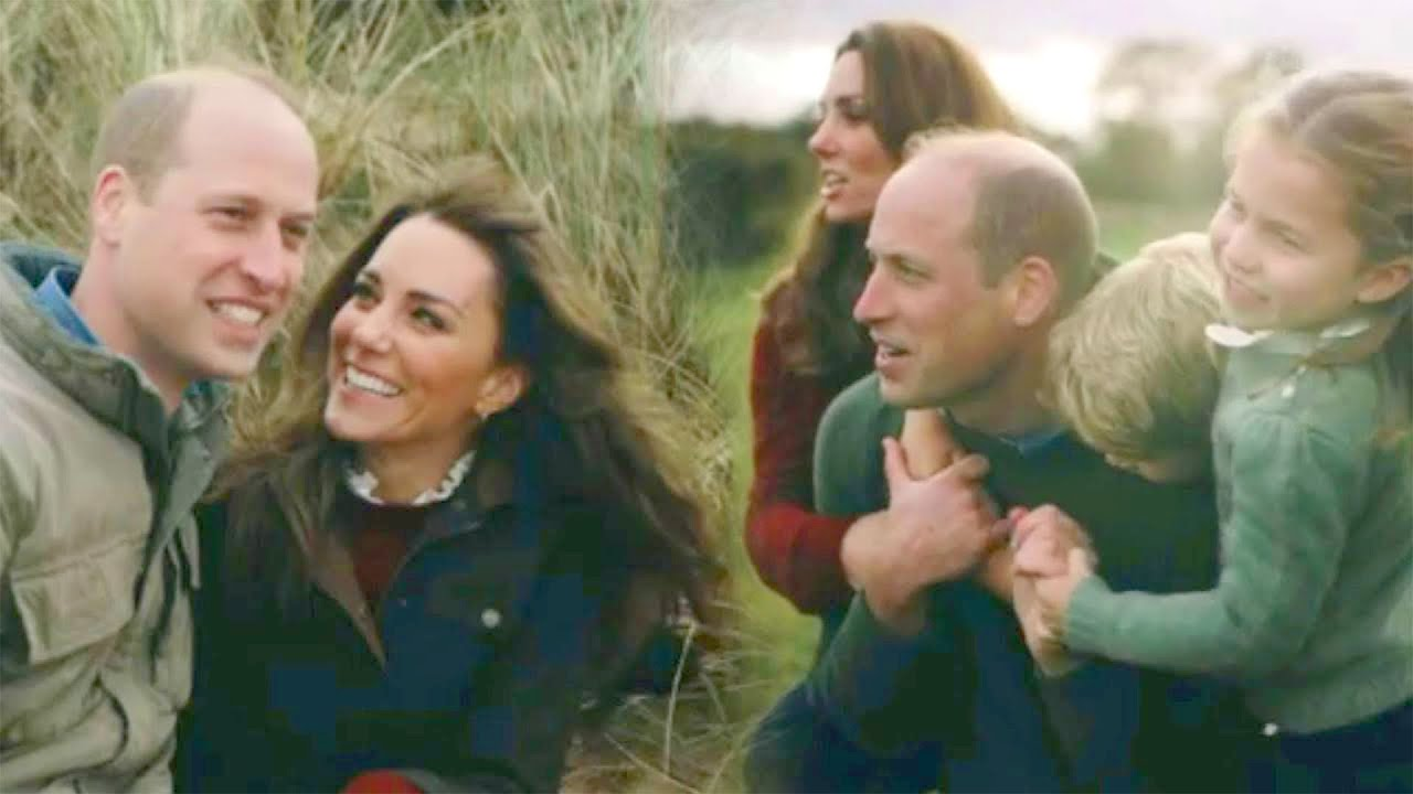 Prince William and Kate Middleton Share RARE Video With Their Kids Playing on the Beach