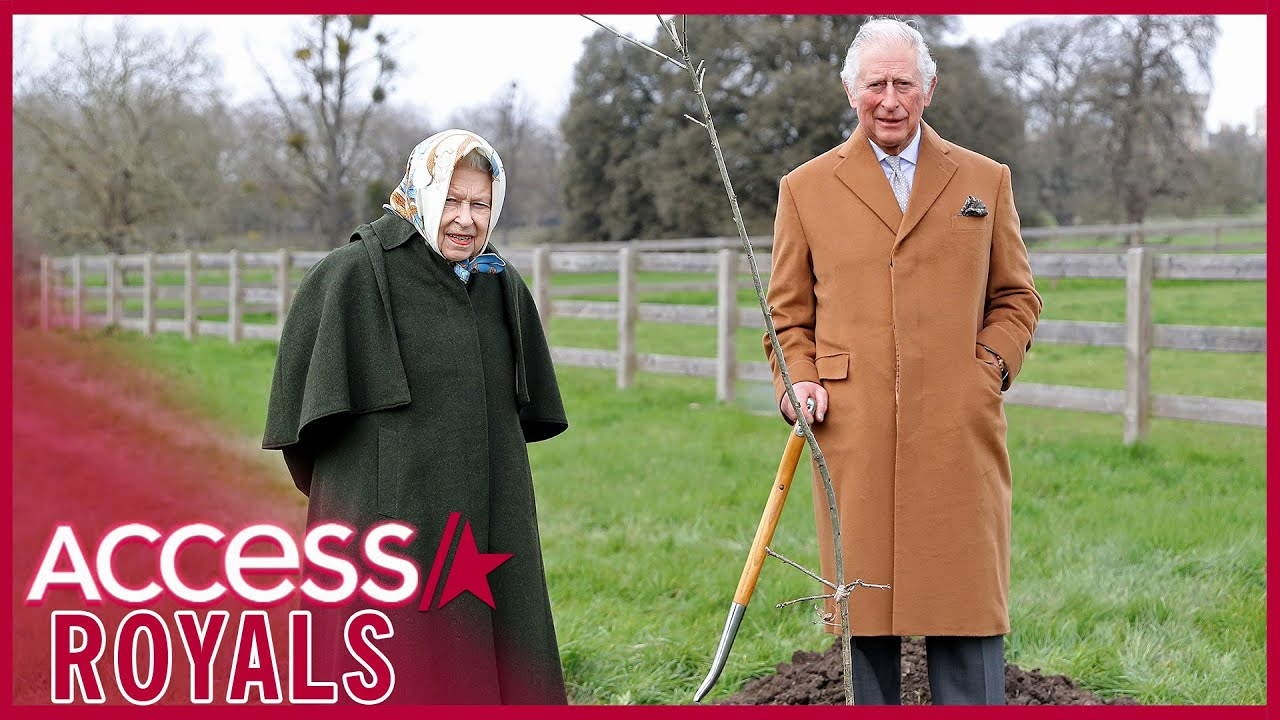 Queen Elizabeth & Prince Charles Plant Tree Together