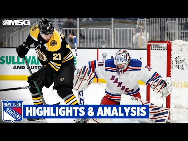 Rangers Lose 5th Straight vs Bruins 4-0 | New York Rangers