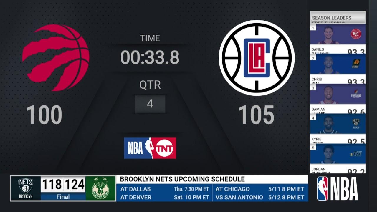 Raptors @ Clippers  | NBA on TNT Live Scoreboard