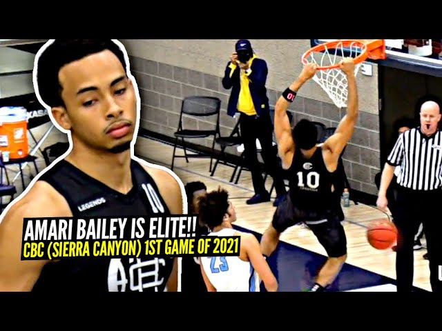 Sierra Canyon 1ST Game of 2021!! Amari Bailey Takes OVER Game & Shows Why He's Ranked Top 3!