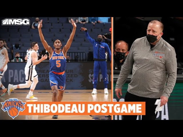 Thibs Compliments Growth of Young Knicks | New York Knicks