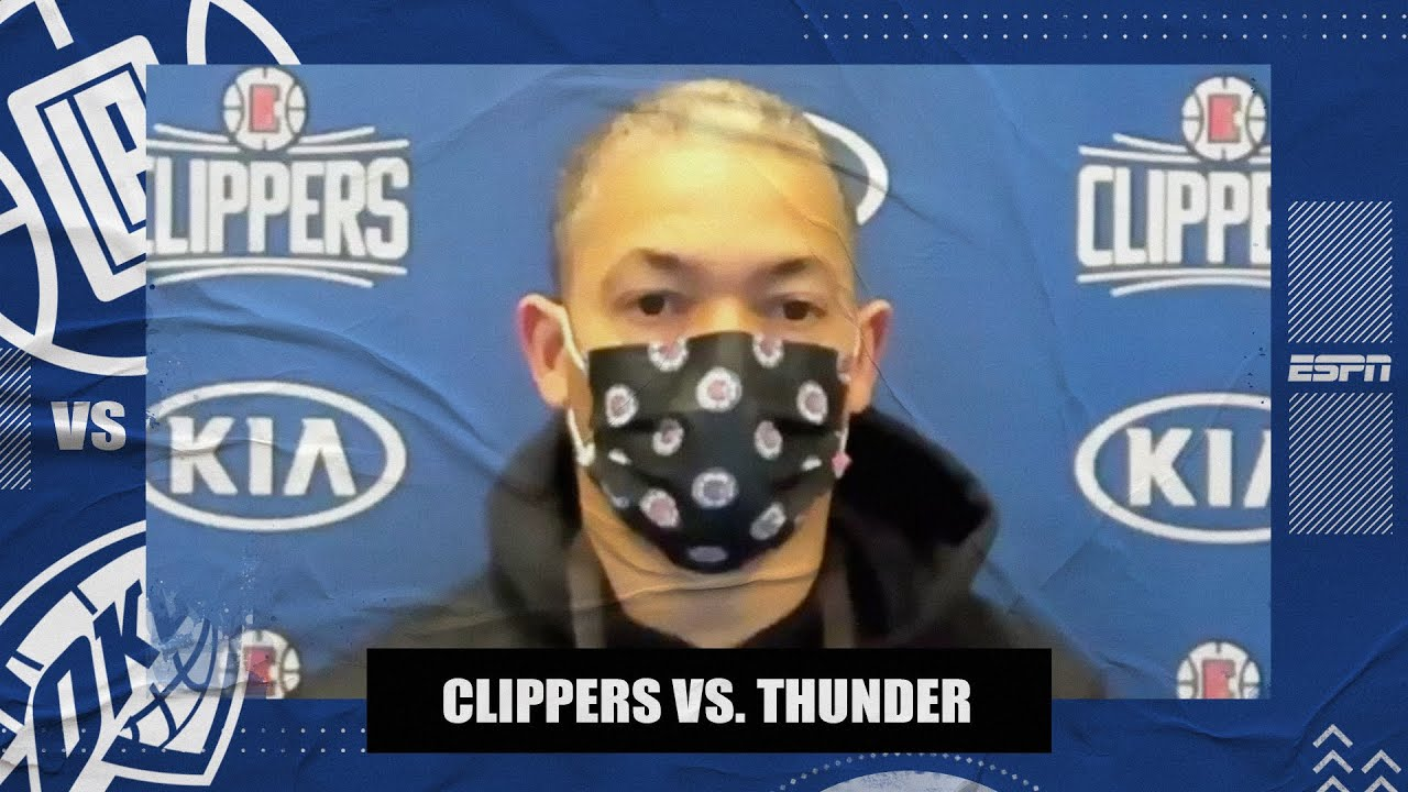 Ty Lue on being cautious with Paul George's hamstring and Clippers' win vs. OKC   NBA on ESPN