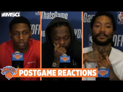 Barrett, Randle, Rose React to Season Ending After Game 5 Loss | New York Knicks