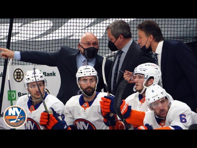 Barry Trotz Reacts To Isles OT Win vs. Bruins | New York Islanders