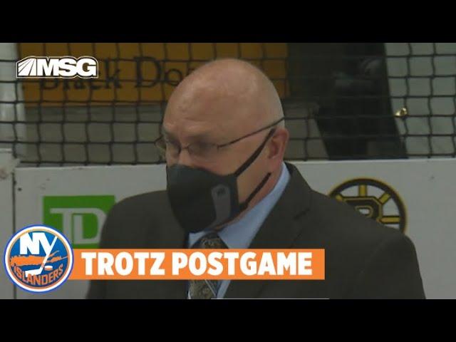 Barry Trotz Talks Islanders Defense Against Bruins for Game 2 | New York Islanders
