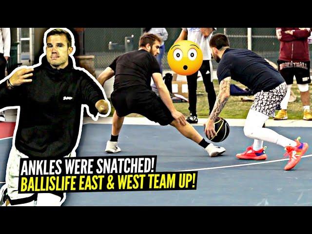Breaking ANKLES w/ One Arm! White Iverson & Zach Hodskins Go CRAZY At The Park! 5v5 Basketball