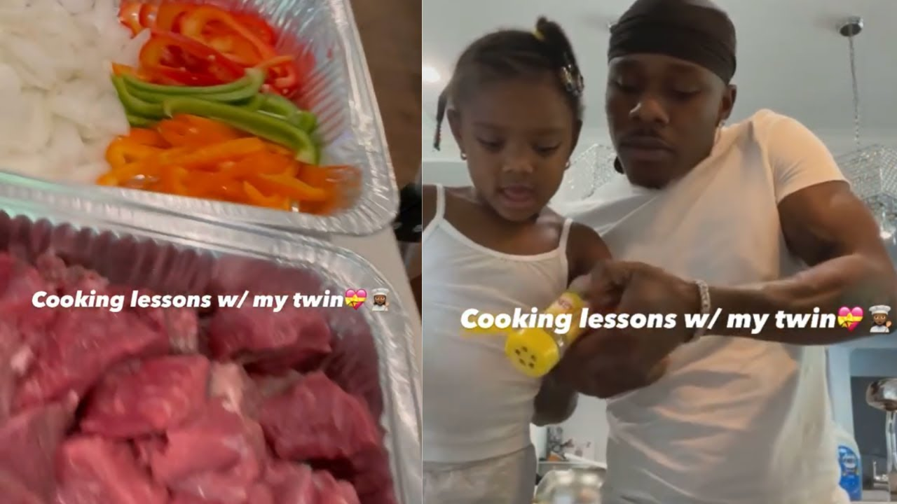 Da Baby Shares Cooking Lessons with his Mini Me Daughter