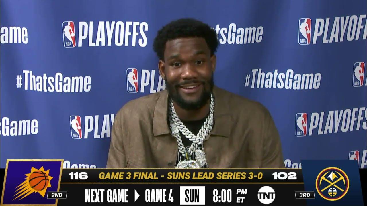Deandre Ayton Game 3 Postgame Press Conference | #NBAPlayoffs