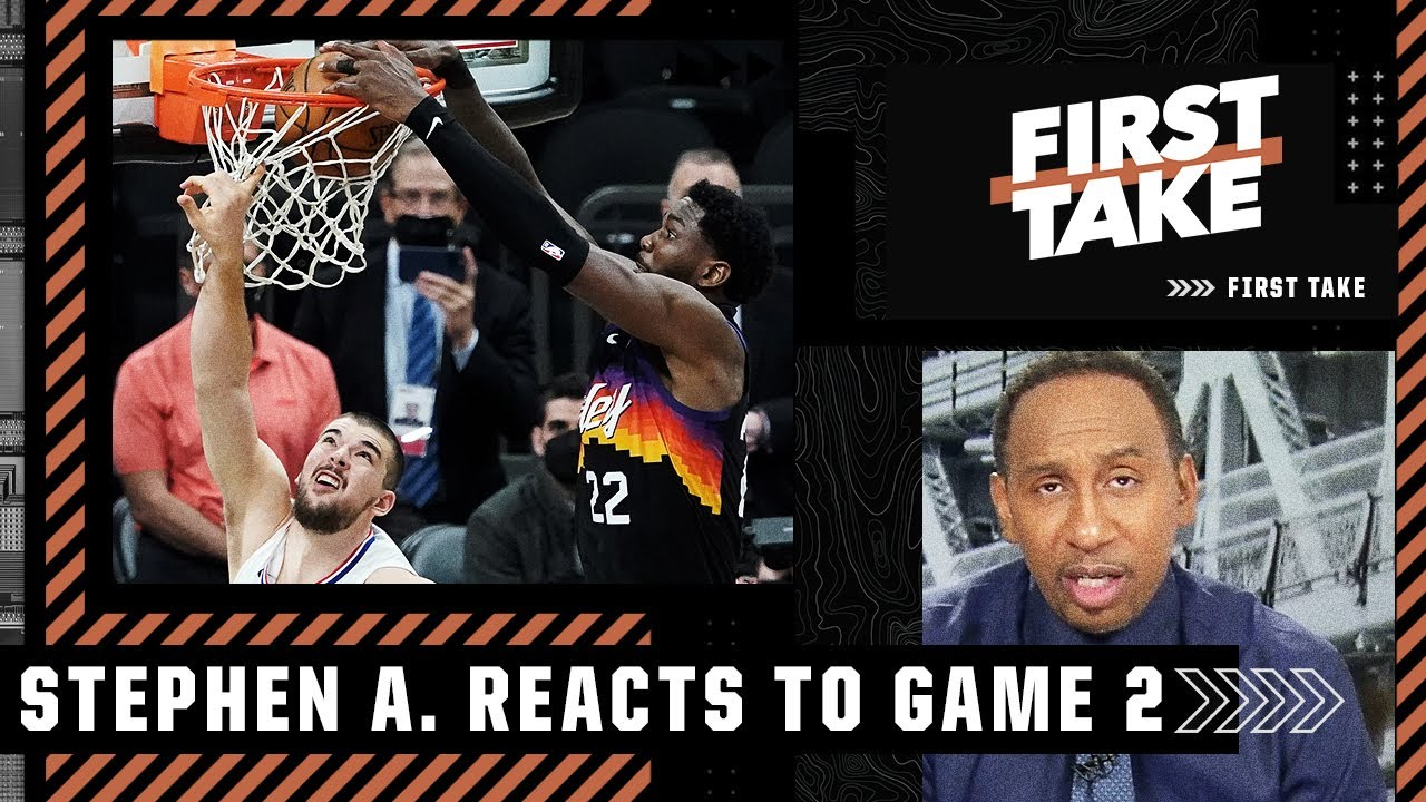 Deandre Ayton is 'flat-out ballin' for the Suns – Stephen A. reacts to Game 2 | First Take