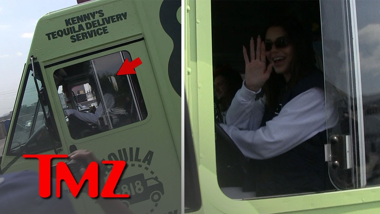 Kendall Jenner Drives Huge Truck Delivering Her Tequila to Liquor Store | TMZ
