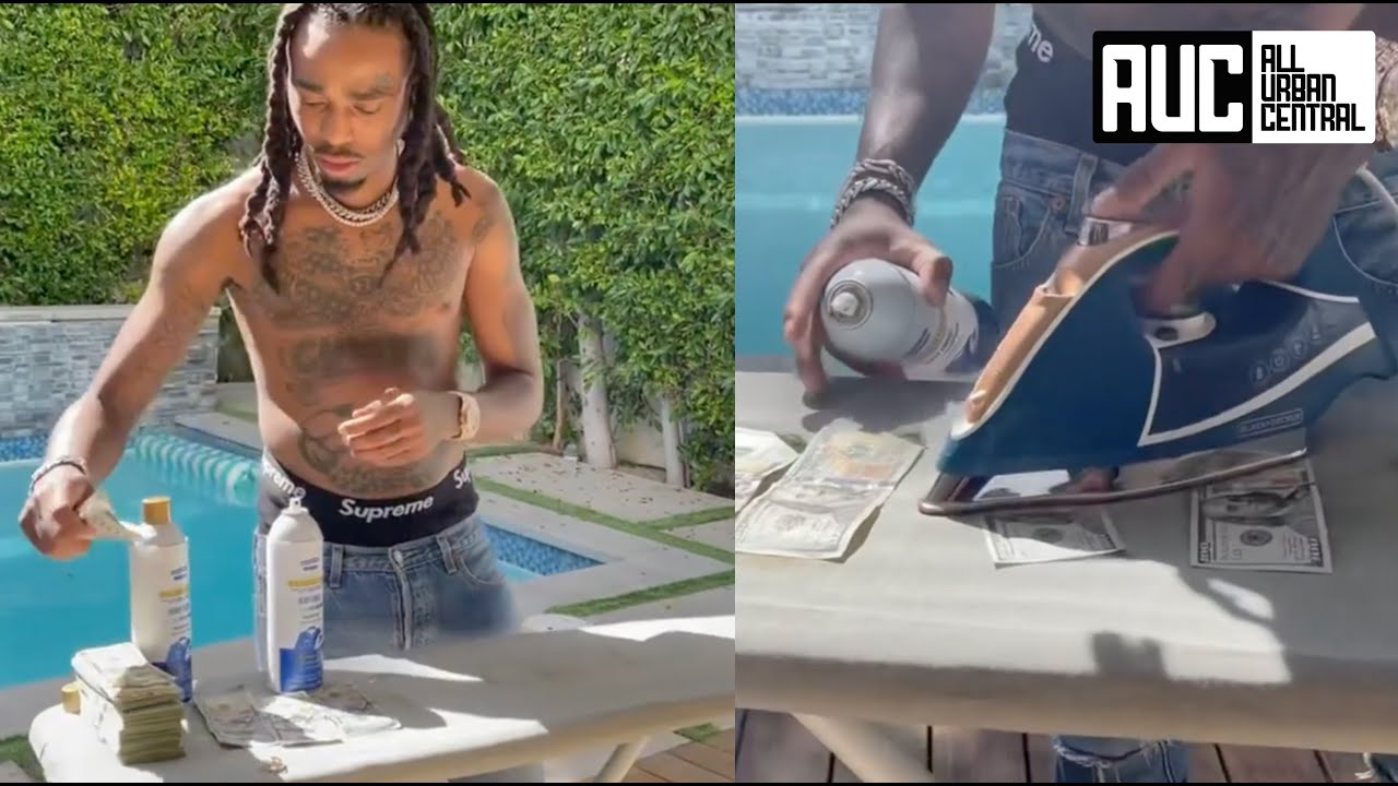 Quavo Ironing His Money With Migos Straightenin Starch So It Fits Neat In His Pockets