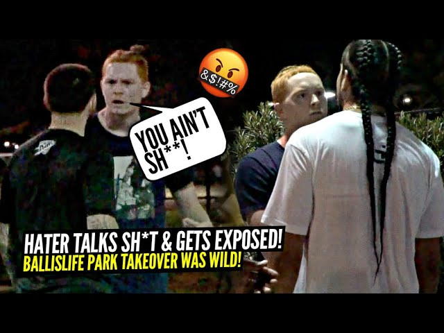 """""""Shut Your Mouth"""" Trash Talker Got In Our Face & Then Gets EXPOSED! 5v5 at The Park Got Heated!"""