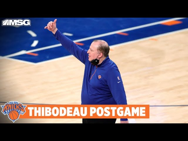 Thibs Only Focused on Next Game Amidst NBA Playoff Talks   New York Knicks
