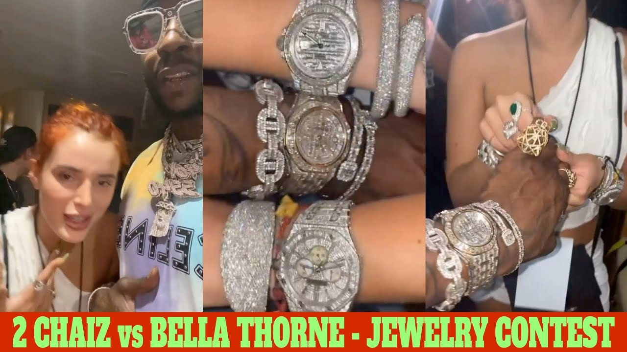 2 CHAINZ HAS A JEWELRY CONTEST WITH BELLA THORNE