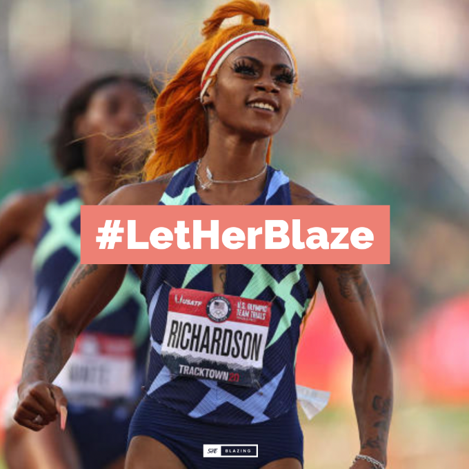 #LetHerBlaze {Petition To Get Sha'Carri Richardson To The Olympics}
