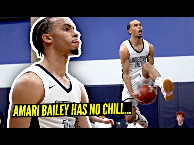 Amari Bailey Has NO CHILL!! Sierra Canyon INSANE DUNKS & Remain UNDEFEATED!!