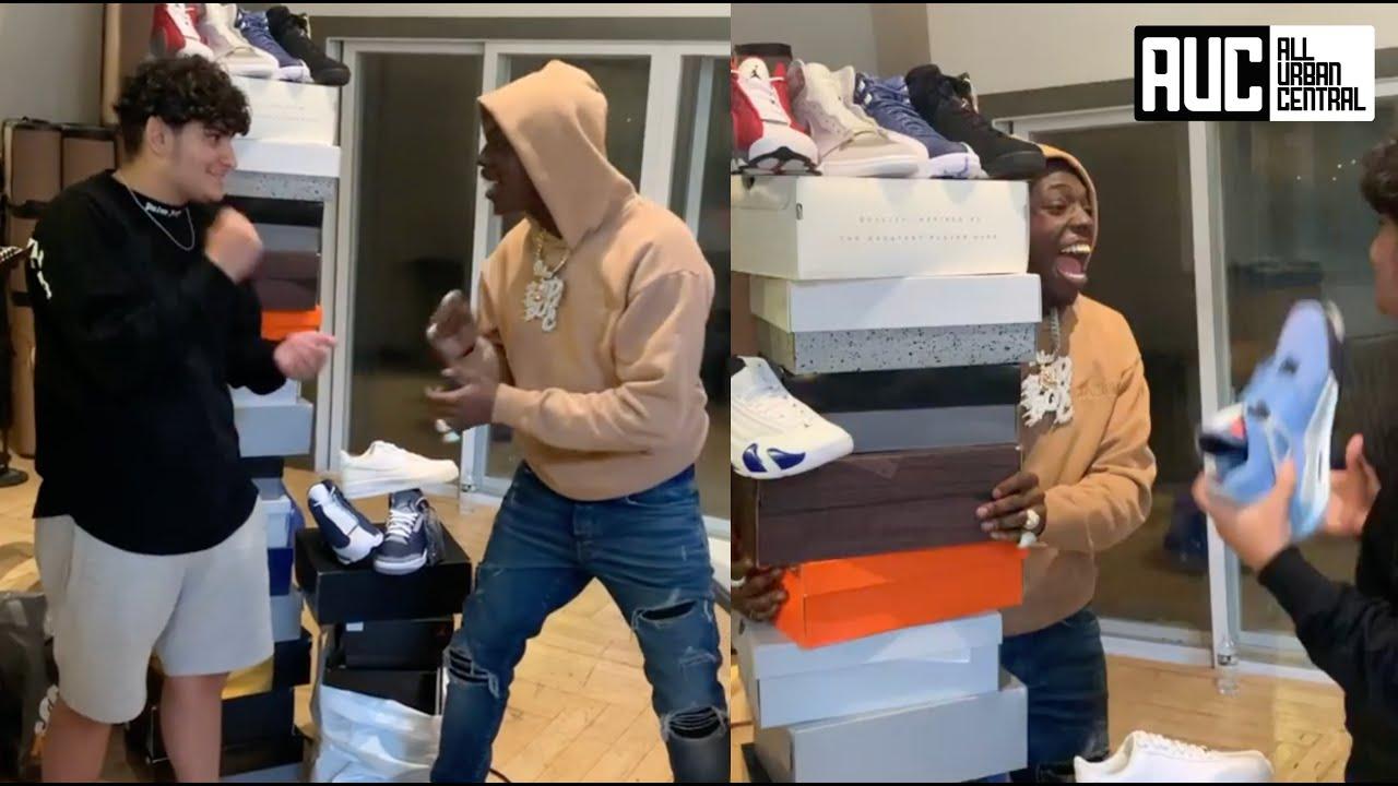 Bobby Shmurda Wins $12K Worth Free Shoes After Beating Sneaker Plug In Rock Paper Scissors