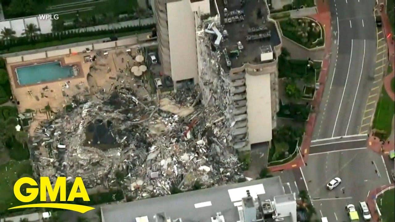 Death toll climbs to 12 in Miami Beach building collapse l GMA