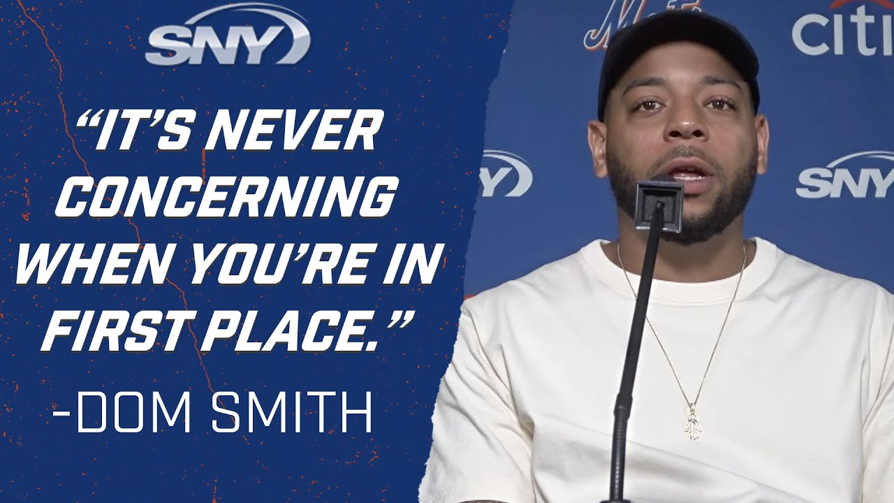 Dom Smith downplays Mets' recent hitting woes post splitting doubleheader with Phillies | Mets | SNY