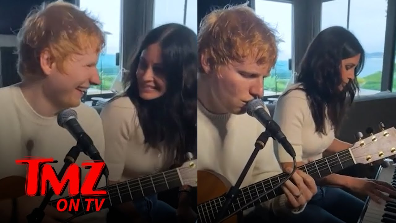 Ed Sheeran Teases New Song with Courtney Cox   TMZ TV