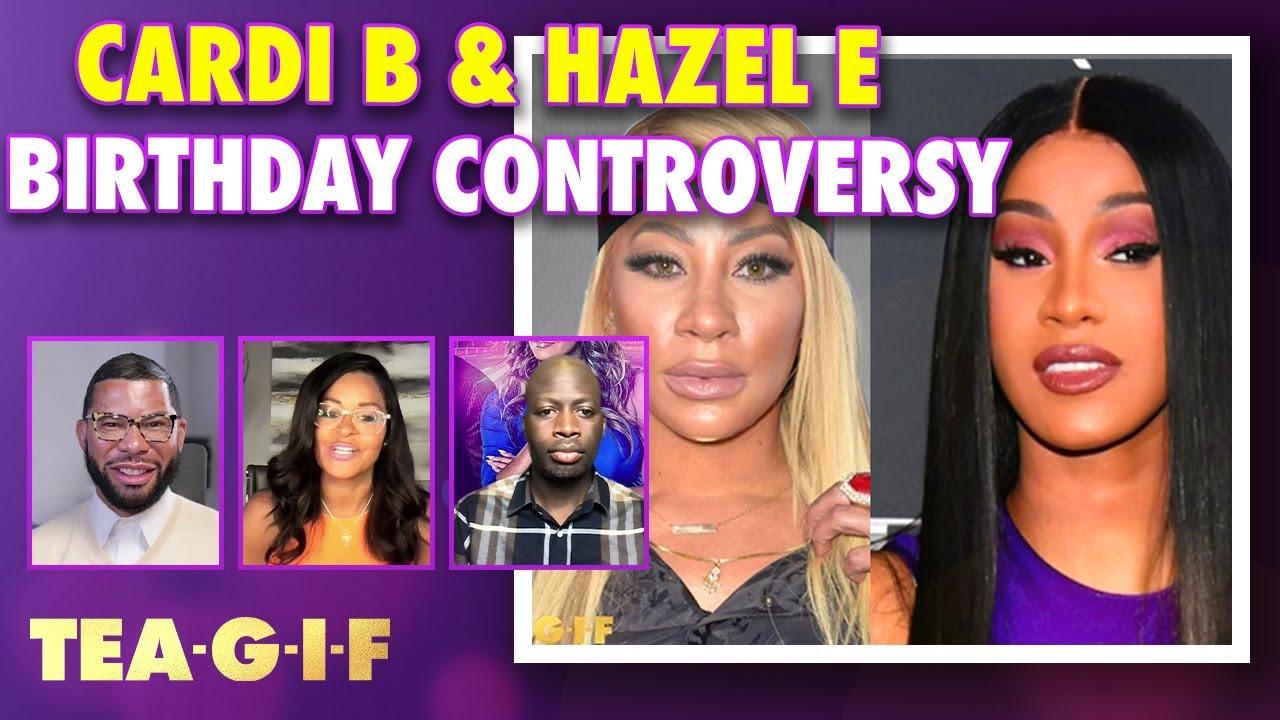 Hazel E Shades Cardi B over a Children's Birthday party!? | Tea-G-I-F